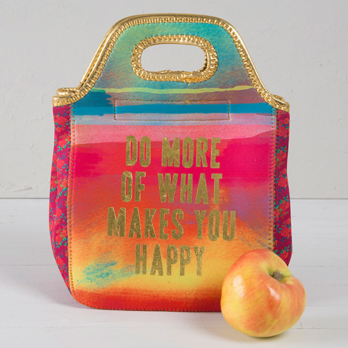 Natural Life: Neoprene Lunch Bag - Do More Happy
