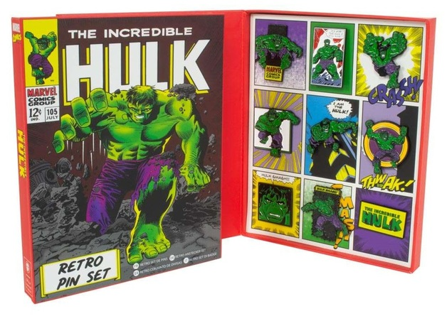 Marvel: Hulk - Retro Pin Set