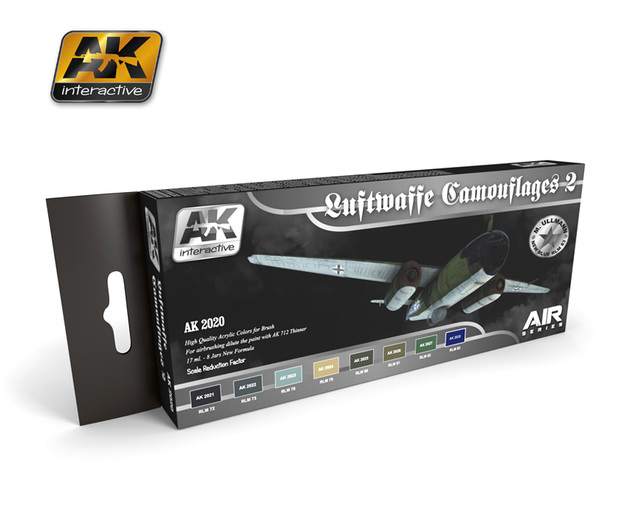 AK-2001 Luftwaffe Camouflage Colours Set 2