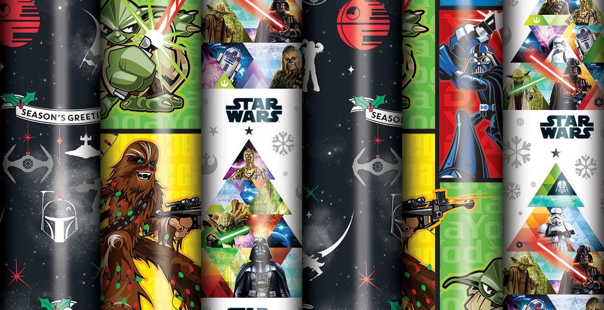Star Wars Christmas Wrapping Paper (2m Roll) image
