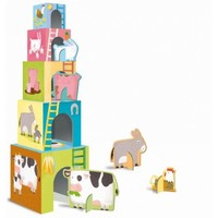 Sassi Junior: Baby Animals of the Farm - Stacking Blocks