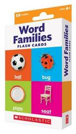 Flash Cards: Word Families by Scholastic Teaching Resources
