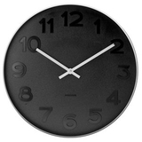 Karlsson Wall Clock - Mr. Black: Silver Case (Small)