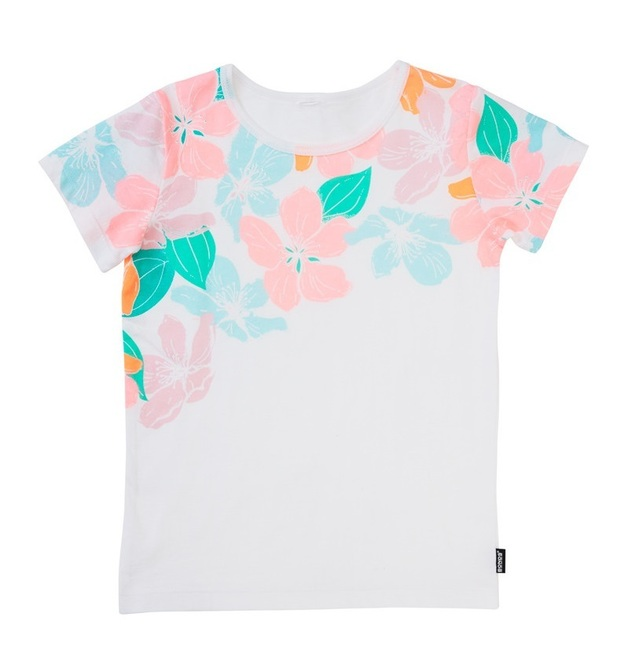 Bonds Short Sleeve Standard T-Shirt - Woodblock Floral (0-3 Months)