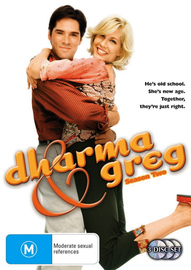 Dharma and Greg - Season 2 (3 Disc Set) on DVD image