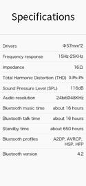 Bluedio F2 Active Noise Cancelling Over-Ear Wireless Bluetooth Headphones - Black image