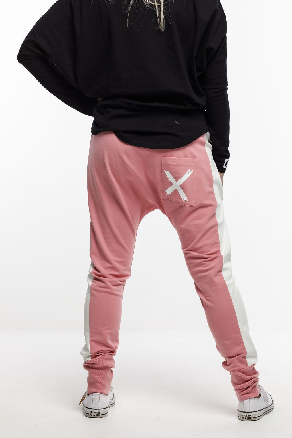 Home-Lee: Relaxer Pants - Rose Pink With X - 6 image