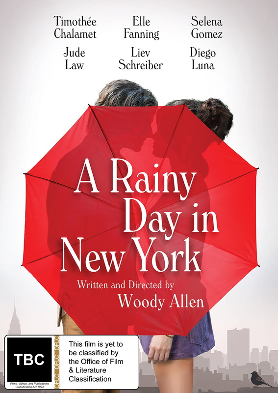A Rainy Day In New York on DVD