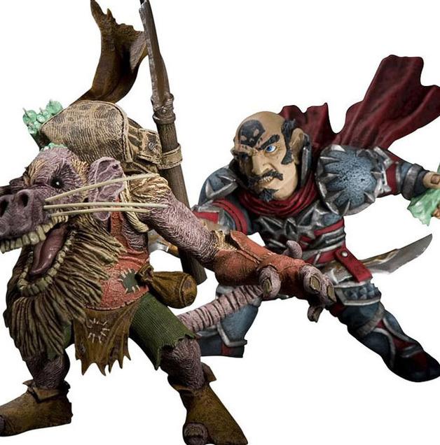 World of Warcraft Figure Set - Gnome Rogue vs Kobold Miner (series 8)