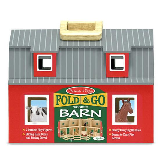Fold and Go Wooden Barn - Melissa & Doug