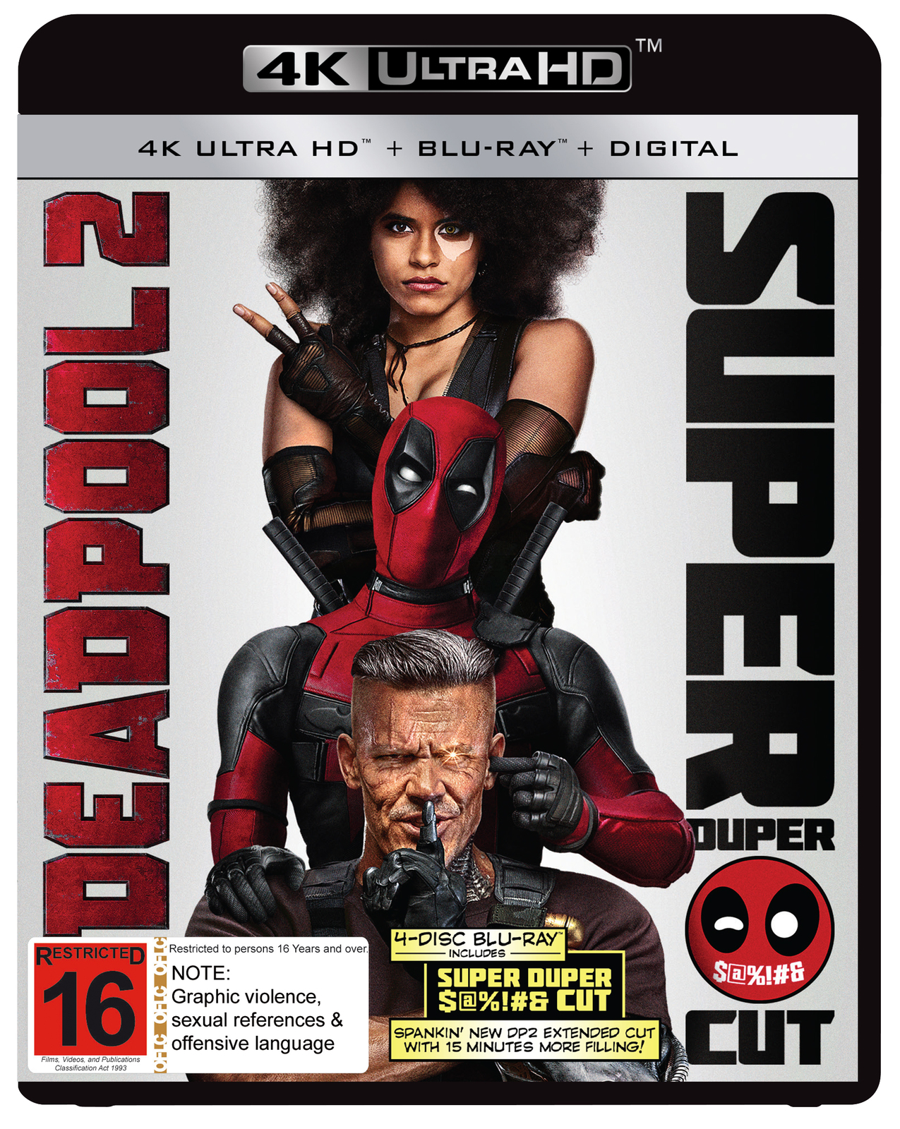 Deadpool 2 (Special Edition) on Blu-ray, UHD Blu-ray, DC image
