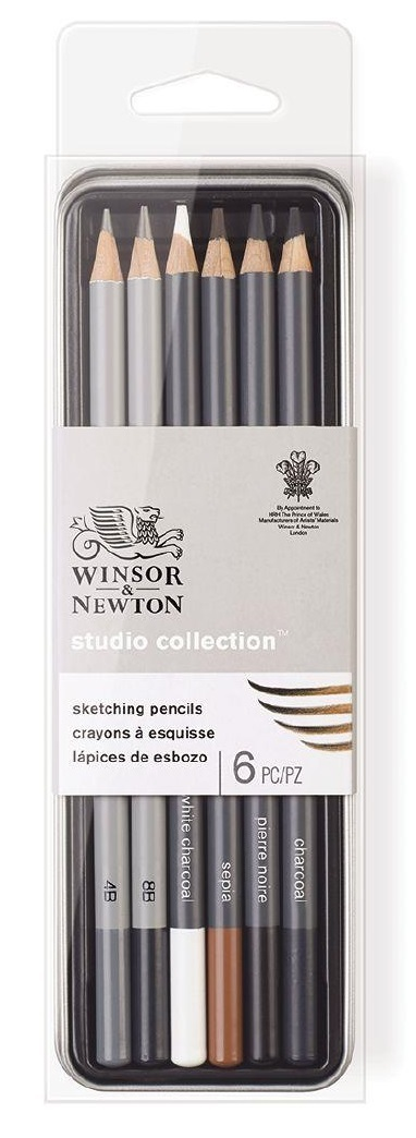 Studio Sketching Pencil - Tin of 6 image
