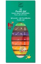 Djeco: Design - 12 Gel Pastels Classic