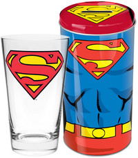 DC Comics Superman Glass in Tin