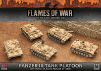 Flames of War: Afrika Korps Panzer III Tank Platoon