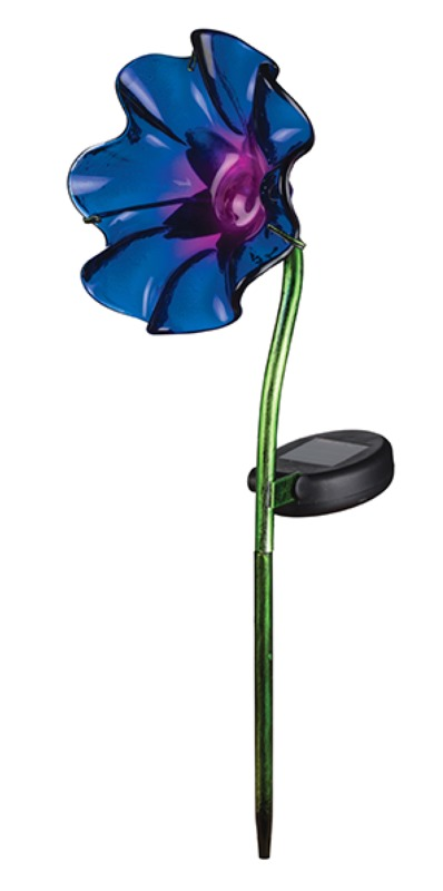 Regal Art & Gift: Mini Solar Poppy Stake - Purple