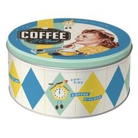 Nostalgic Art: Storage Tin Round - Coffee O'clock (Large)