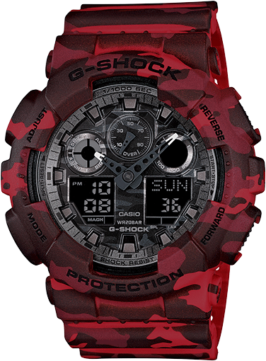 Casio G-Shock Analogue/Digital Men's Camouflage Series GA100CM-4A GA-100CM-4A