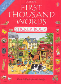 First Thousand Words: Sticker Book by Heather Amery image