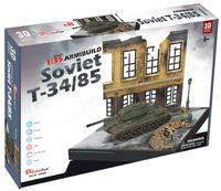 CubicFun: ArmiBuild - Soviet T34/85 - 213 Piece 3D Puzzle
