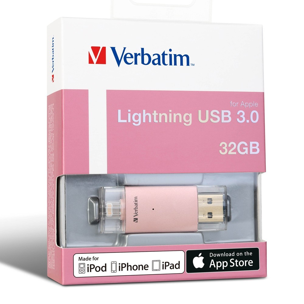 Verbatim Apple Lightning USB 3.0 Drive - 32GB (Rose Gold) image