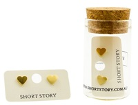 Short Story: Funky Play Earrings - Gold Love Heart