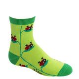 Sock it to Me Lady Bug Junior's Crew Socks