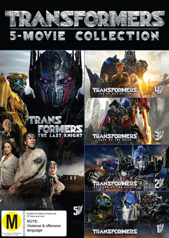 Transformers - 1-5 Boxset on DVD