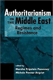 Authoritarianism in the Middle East by Marsha Pripstein Posusney image