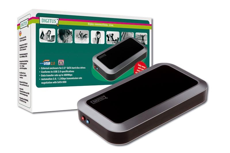 "Digitus 2.5"" SATA HDD External Case USB2.0/ESATA image"