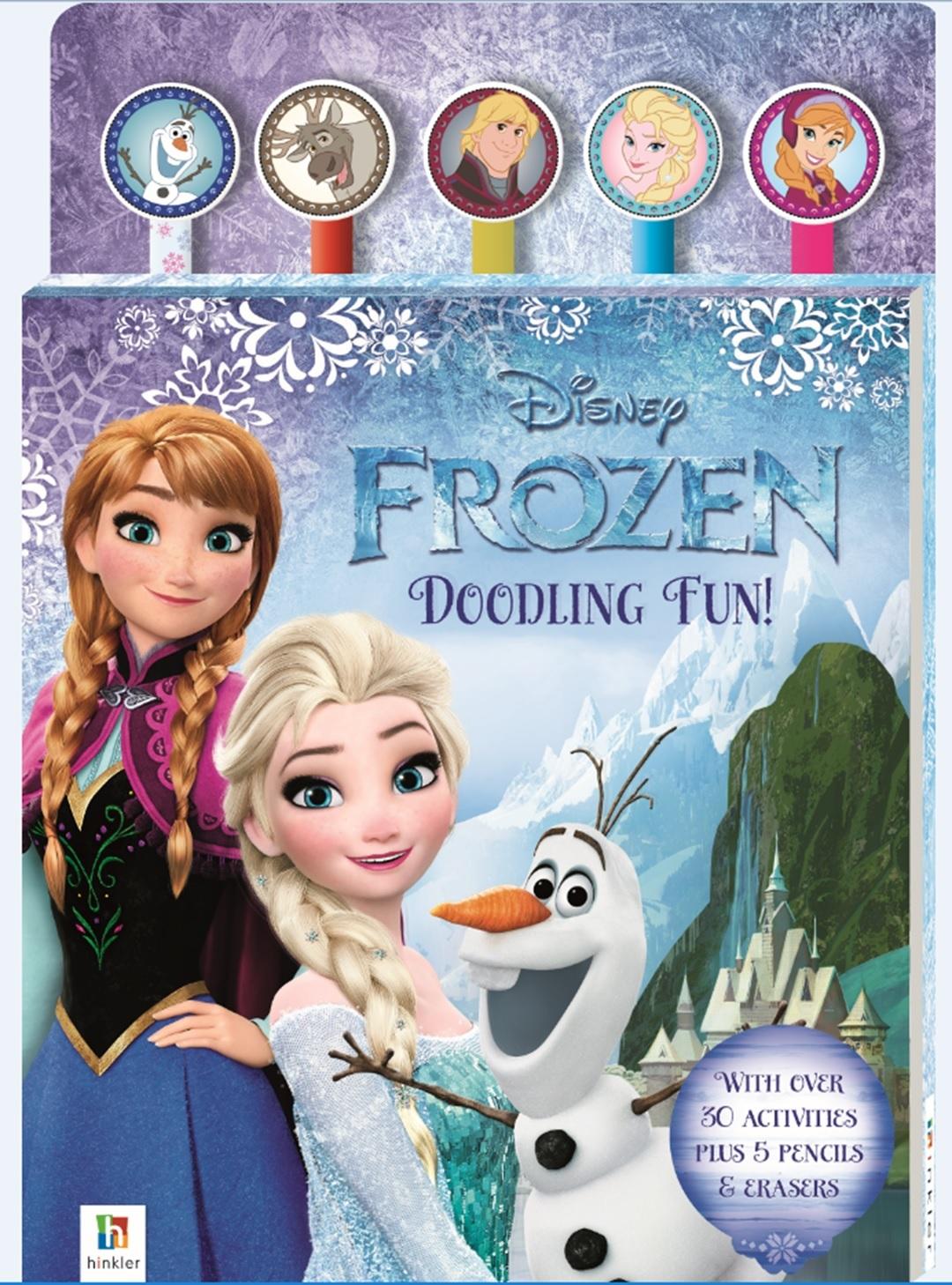 Disney Frozen: Pencil & Eraser - 5-Piece Set image