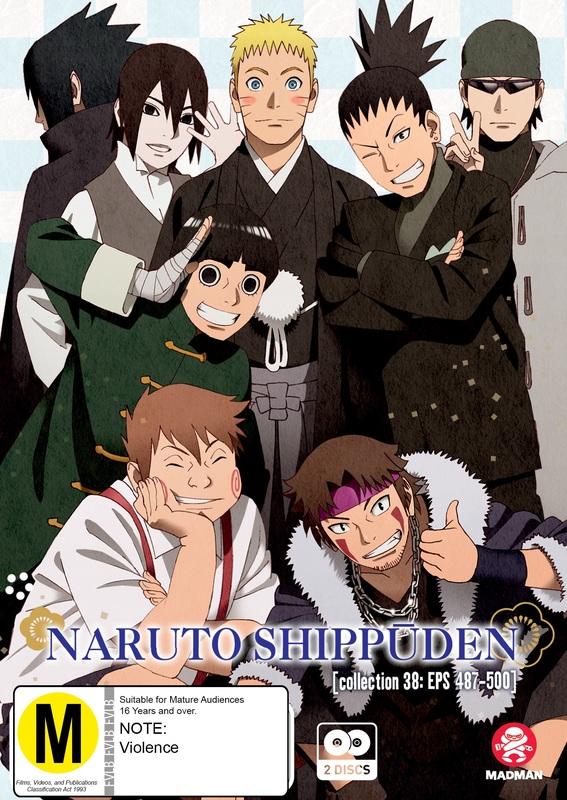 Naruto Shippuden - Collection 38 (Eps 487-500) on DVD