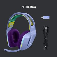 Logitech G733 LIGHTSPEED Wireless RGB Gaming Headset - Lilac for PC, PS4