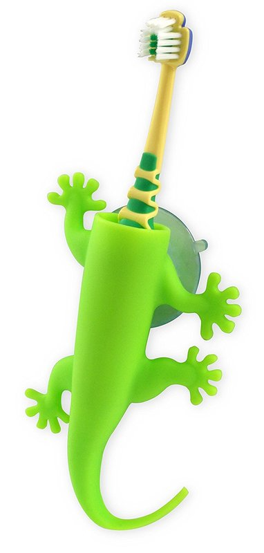 J-me: Larry the lizard Toothbrush Holder- Green
