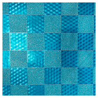 SKINZ Sparklz Printed Glitter Book Cover - Blue