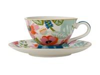Maxwell & Williams: Teas & C's Glastonbury Footed Cup & Saucer - Alpinia White (200ml)