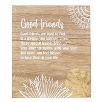 Splosh Havana Verse Plaque - Good Friends
