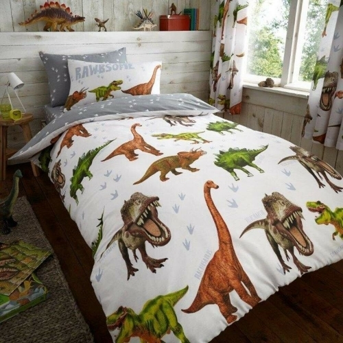 Gaveno Cavailia: Reversible Duvet Cover Bedding Set - Dinosaur Rawrsome (Single)