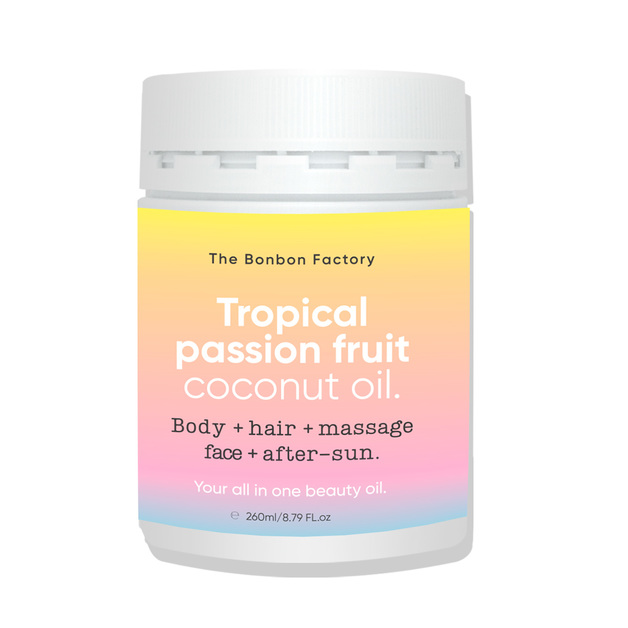 The Bonbon Factory: Tropical Coconut Beauty Oil (260g)