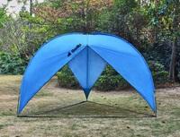 Big Triangle Beach & Sun Shade Shelter with Sidewall (380x380x230cm)   Blue