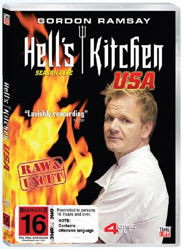 Hell's Kitchen USA - Season 5 (4 Disc Set) on DVD image