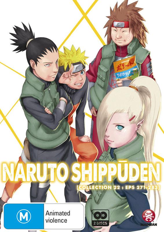 Naruto Shippuden: Collection 22 - Episodes 271-283 on DVD
