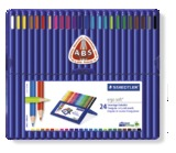 Staedtler - Ergo Soft 157 Triangular Coloured Pencil 24 Pack Wallet