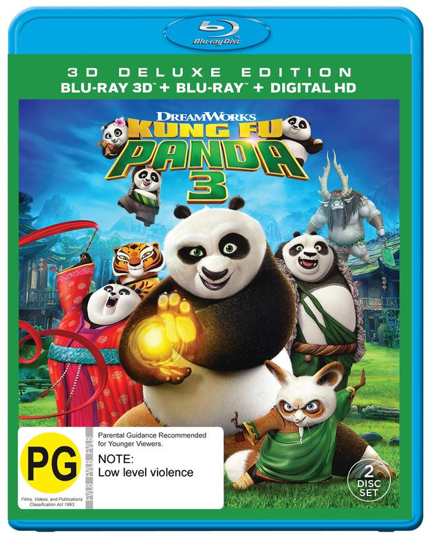 Kung Fu Panda 3 on Blu-ray, 3D Blu-ray
