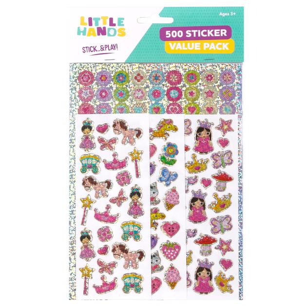 Little Hands: 500 Sticker Pack - Princess Fairy (Assorted Designs)