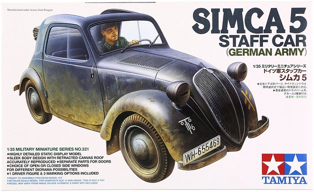 Tamiya 1/35 German Simca 5 Staff Car - Model Kit