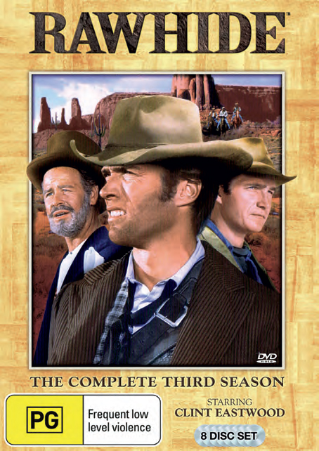 Rawhide - The Complete 3rd Season (8 Disc Set) on DVD image