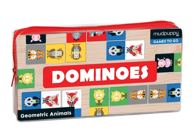 Mudpuppy: Geometric Animals Dominoes
