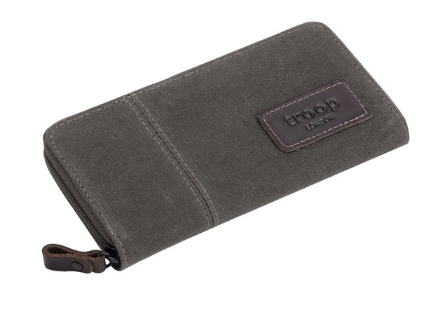 Troop London: Keystone Long Canvas Wallet - Olive - GWP