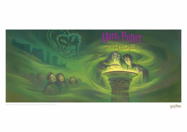 Harry Potter: Half Blood Prince - Book Cover Artwork